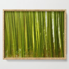 Nature bamboo abstract Serving Tray