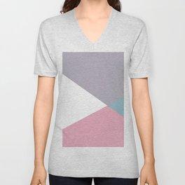 Soft Color Blocking Unisex V-Neck