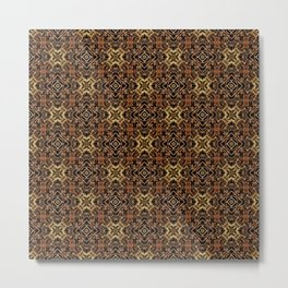 Tribal Geometric Print Metal Print