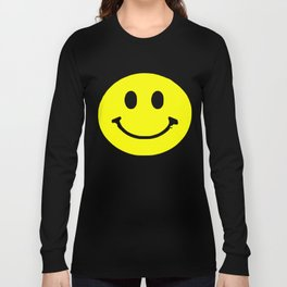 smiley face rave music logo Long Sleeve T-shirt