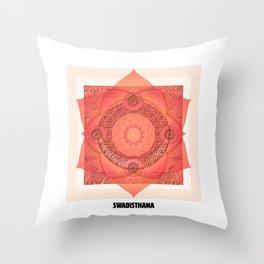 Swadisthana Second Chakra (Chakra Series)/Sacral Chakra Throw Pillow