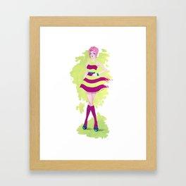 Mod Girl Framed Art Print