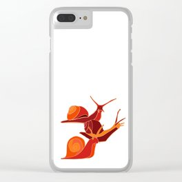 A Snail's Pace Clear iPhone Case