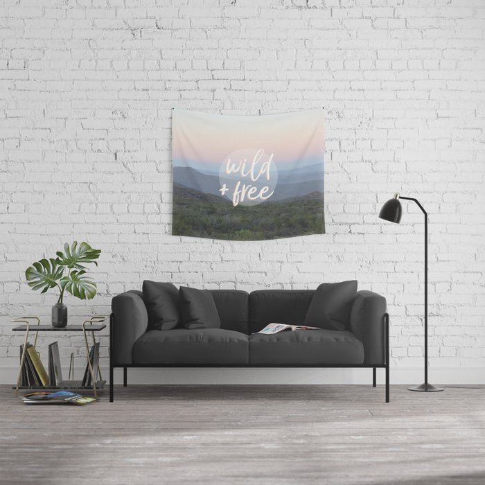 Wild and free serene landscape Wall Tapestry