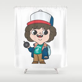 dustin eleven Shower Curtain