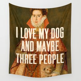 I Love My Dog Wall Tapestry