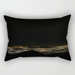 View From Big Bear Hwy at Night Rectangular Pillow