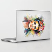 sister Laptop & iPad Skins featuring Frida Kahlo by Tracie Andrews