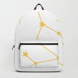 Gemini (Light Orange & White Sign) Backpack
