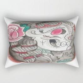 Senorita skull Rectangular Pillow