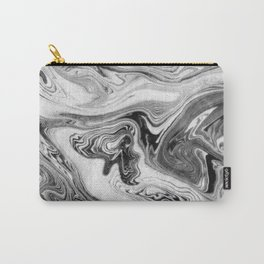 Mizuki - spilled ink marbling paper marble swirl abstract painting original art india ink minimal Carry-All Pouch