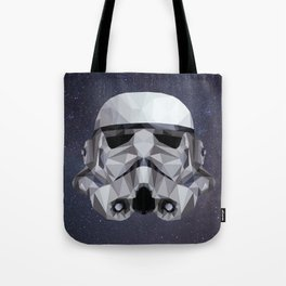 Low Poly Stormtrooper Tote Bag