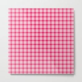 Pink Plaid Metal Print