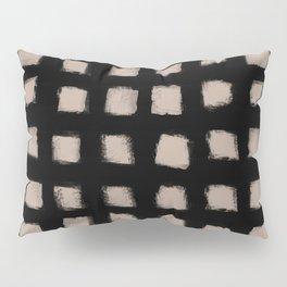 Polka Strokes - Nude on Black Pillow Sham