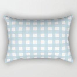 Farmhouse Gingham in Dusty Blue Rectangular Pillow