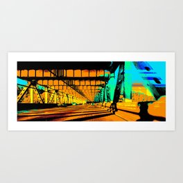 Bay Bridge Evening Pixelart Art Print