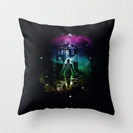 time traveller v2 Throw Pillow