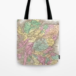 Vintage Map of Scotland (1827)  Tote Bag