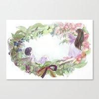 fairies Canvas Prints featuring fairies by acca