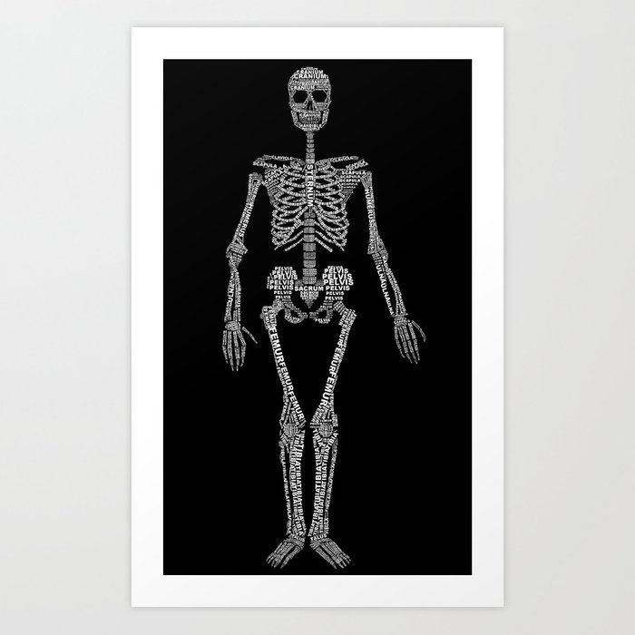 Skeleton Typography Art Print