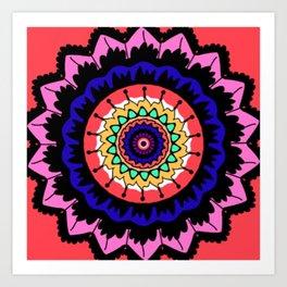 Coral Mandala Art Print