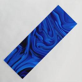 Blue Liquid Marbled texture Yoga Mat