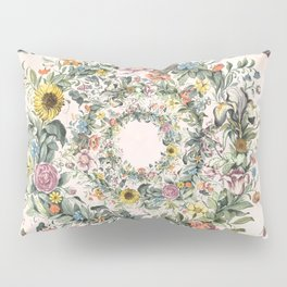 Circle of life- floral Pillow Sham