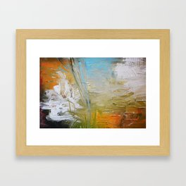 Abstract Red Blue Art  Framed Art Print