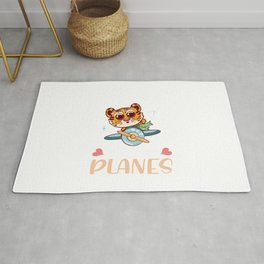 Just A Girl Who Loves Planes Kids Rug