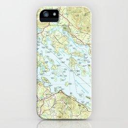 Lake Winnipesaukee Map (1986) iPhone Case