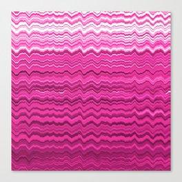 Pink wavy lines pattern Canvas Print
