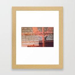 Off World Colony Framed Art Print