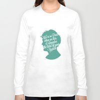 louis tomlinson Long Sleeve T-shirts featuring Louis Tomlinson Silhouette  by Holly Ent