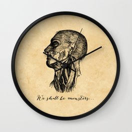 Frankenstein - Mary Shelley - We Shall Be Monsters Wall Clock
