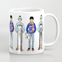 merlin Mugs featuring Christmas Merlin by Candymacaron
