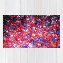 WRAPPED IN STARLIGHT Bold Colorful Abstract Acrylic Painting Galaxy Stars Pink Red Purple Ombre Sky by ebiemporium