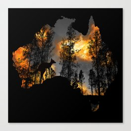 Pray for Australlia Canvas Print