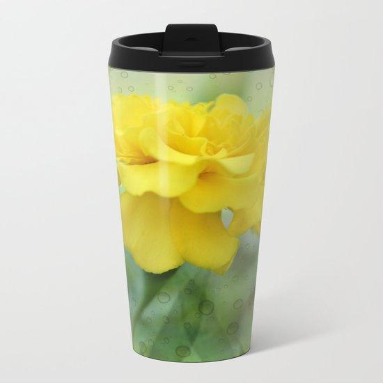 Summer Time Marigold Garden Metal Travel Mug