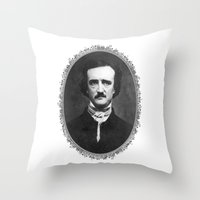 poe Throw Pillows featuring Poe by fyyff