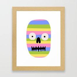 Rainbow Skull Framed Art Print