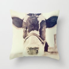 The Cow Throw Pillow
