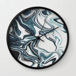 Liquid Marble Blues 023 Wall Clock