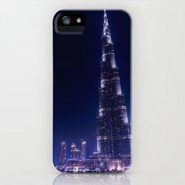 Burj Khalifa Skyscraper In Dubai iPhone Case