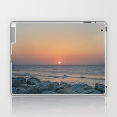 Sunrise at the Battery Seawall Fort Fisher NC Laptop & iPad Skin