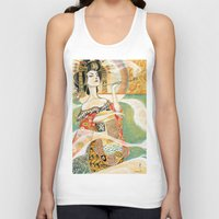 klimt Tank Tops featuring Klimt Oiran by Sara Richard