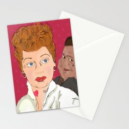 Lucy and Ricky Modern Stationery Cards