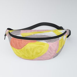 Quilt Abstract Painting 4 Beach Surf Wave Fanny Pack
