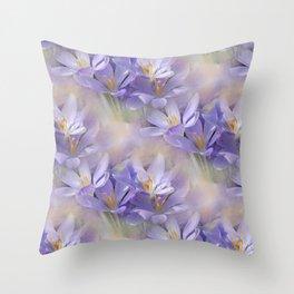 flowers -3- seamless pattern Throw Pillow