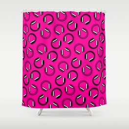 Headphones-Pink Shower Curtain