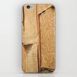 Typed iPhone Skin